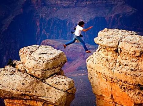 never jump so!